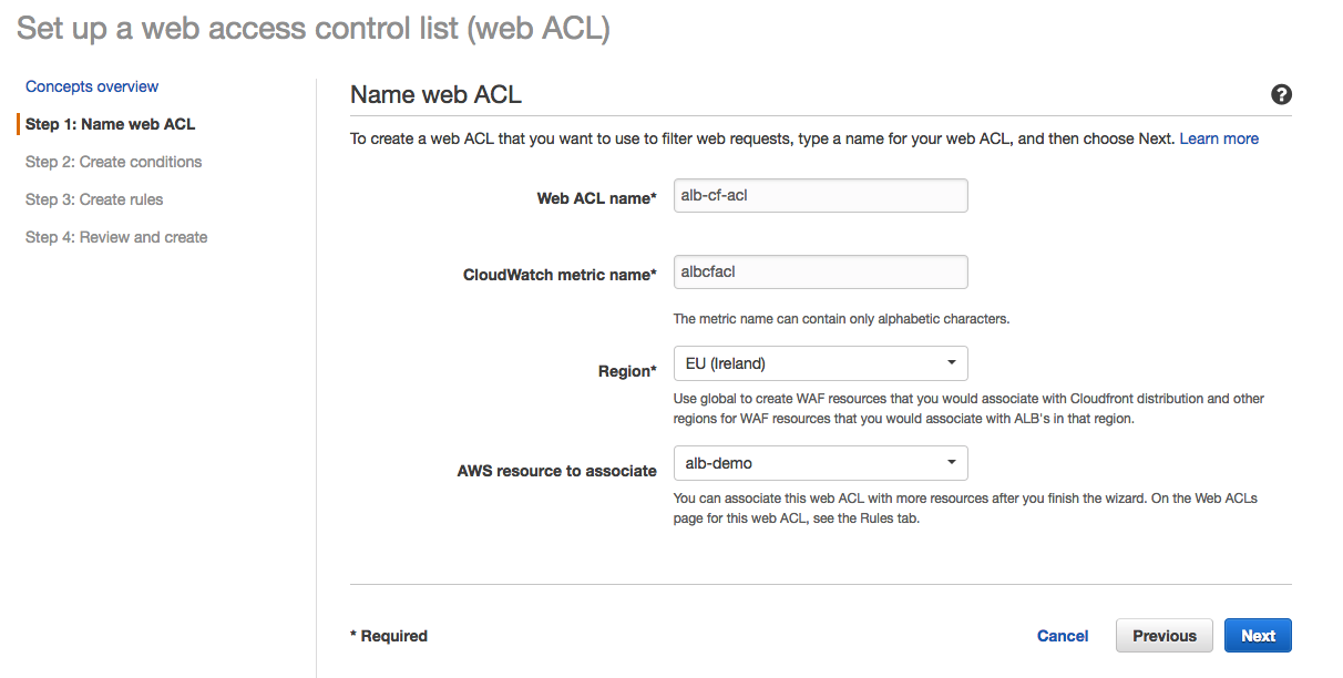 acl config